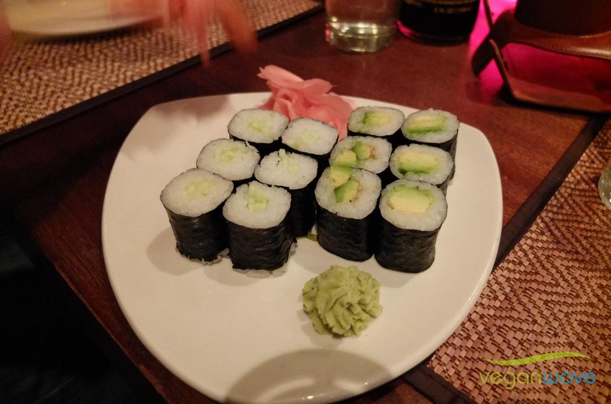 Sushi mit Avocado Gurke im wangthai