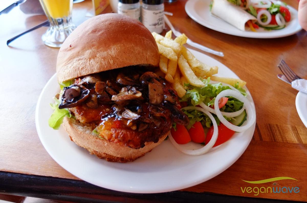 Veganer Burger Kalk Bay Café