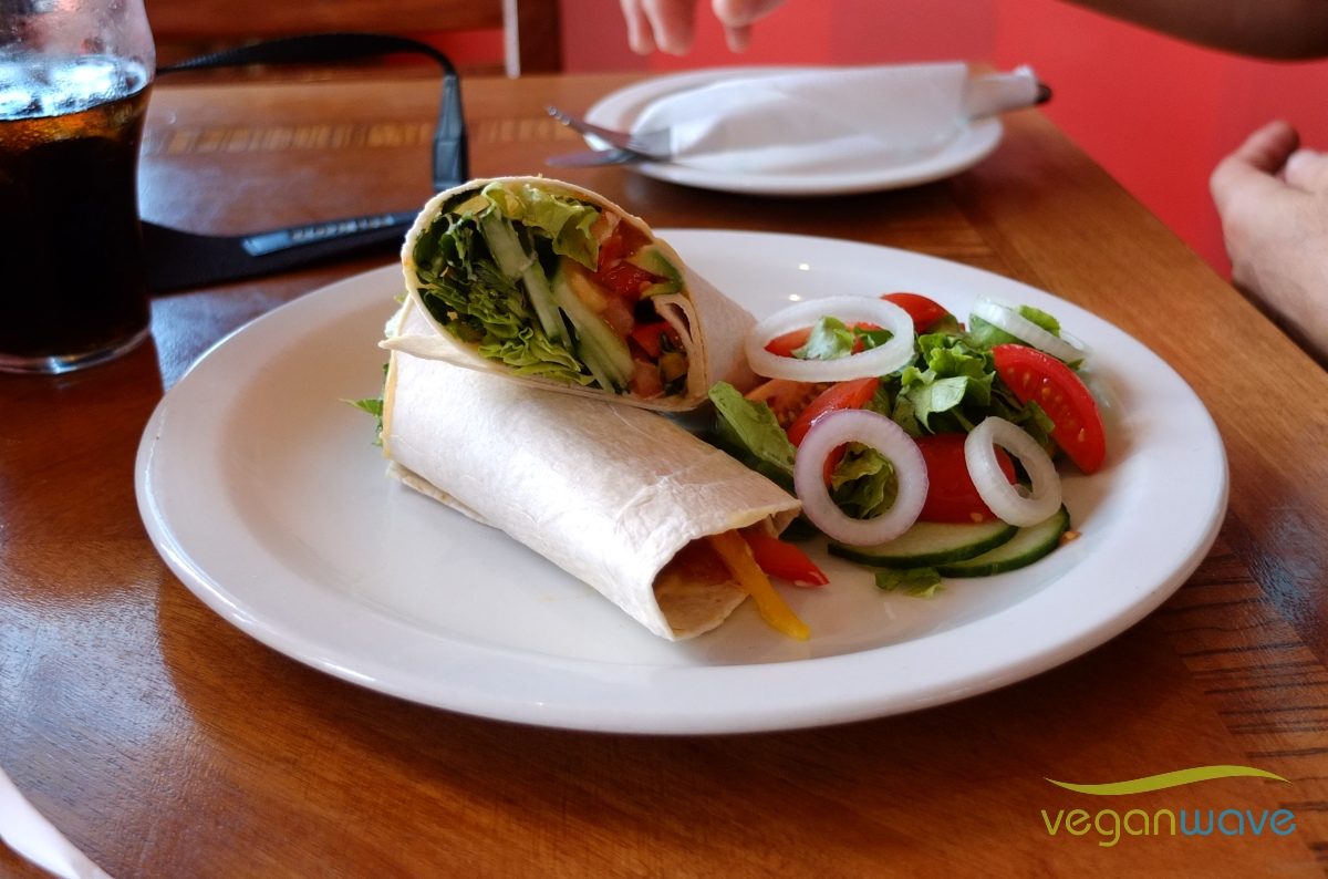Veganer Wrap Kalk Bay Café