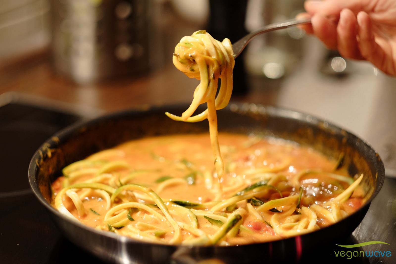 Creamy Zucchinispaghetti