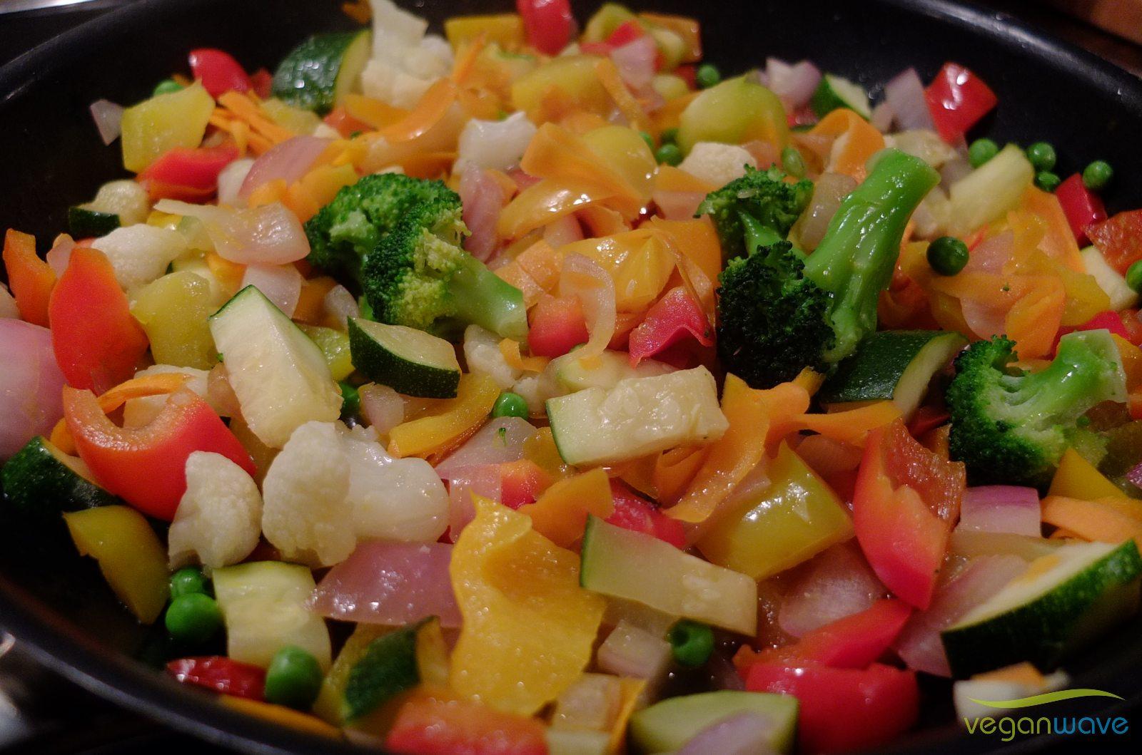 Gemüse für veganes Curry