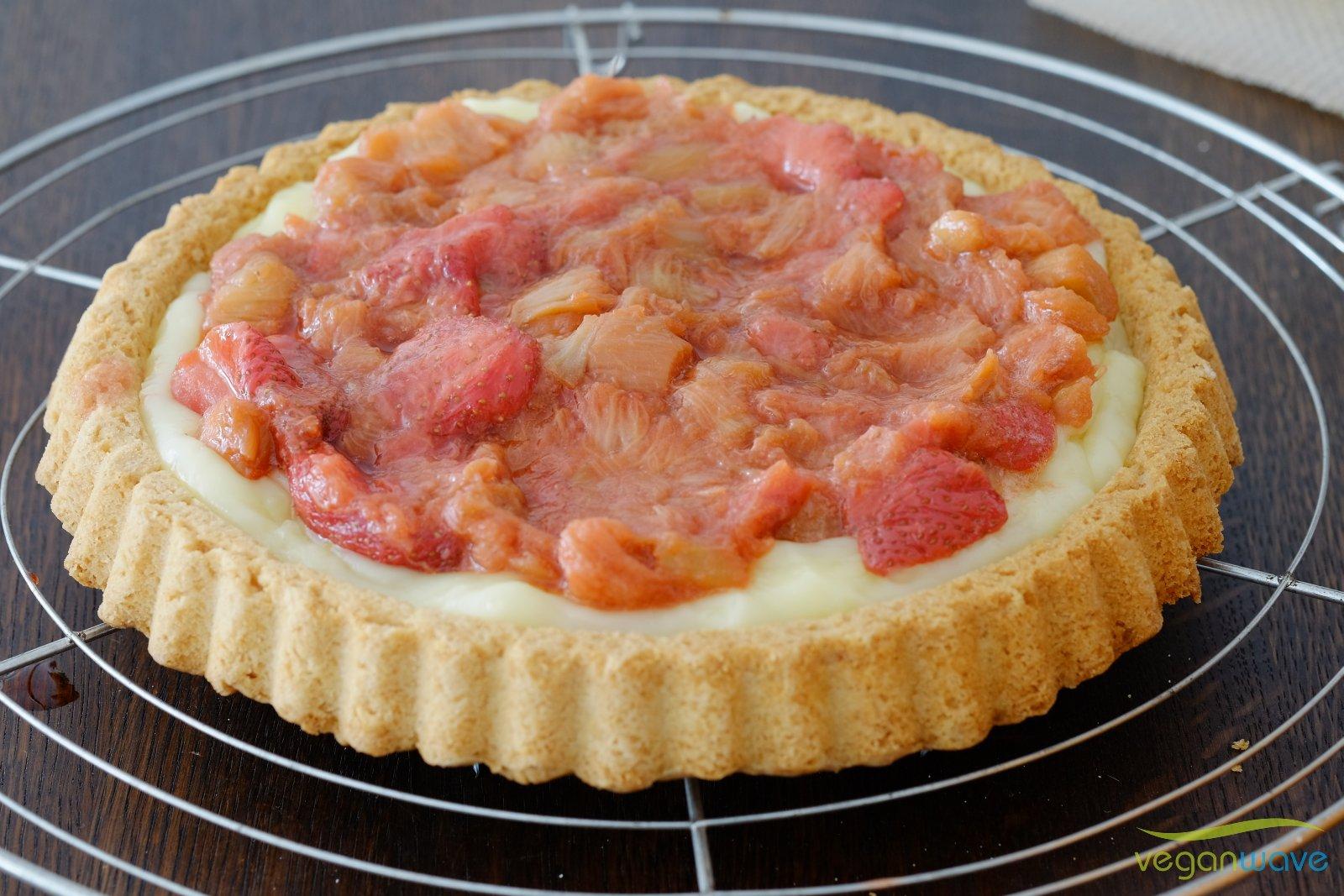Erdbeer Rhababer Kuchen vegan