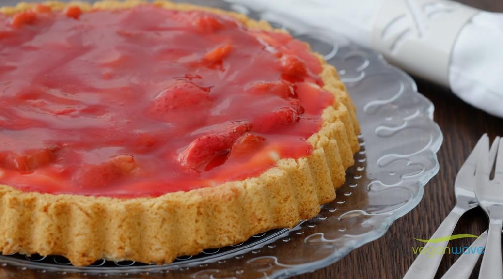 Erdbeer Rhabarber Kuchen vegan