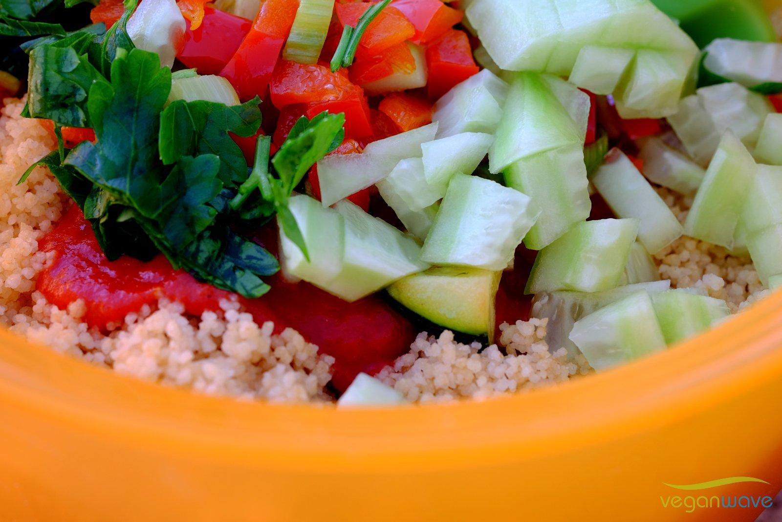 Veganer Couscoussalat