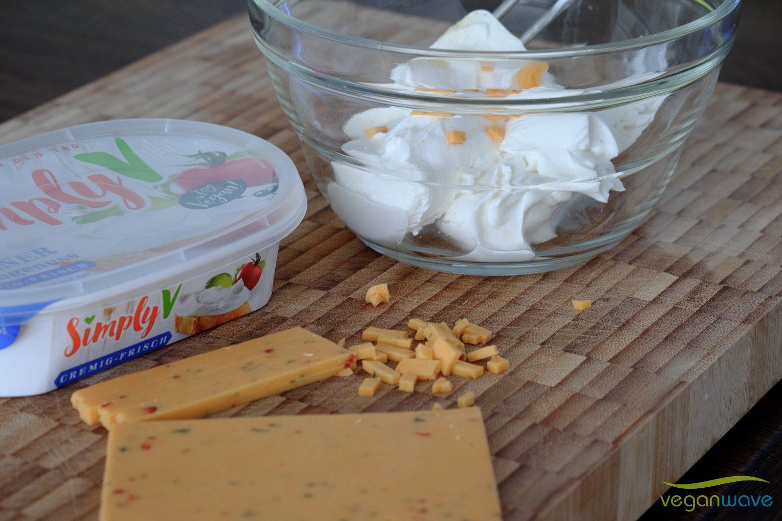Vegane Chili Cheese Poppers
