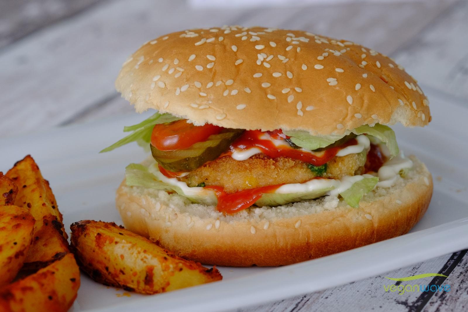 Veganer Burger de luxe