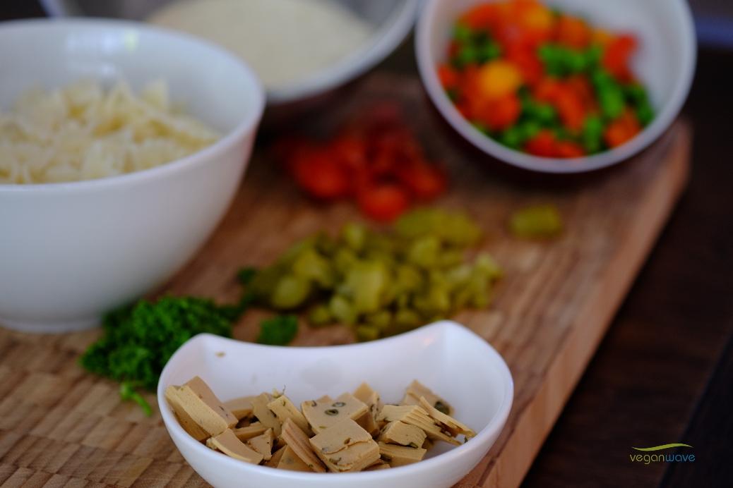 Veganer Nudelsalat
