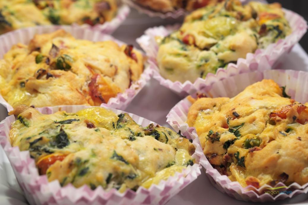 Vegane herzhafte Muffins