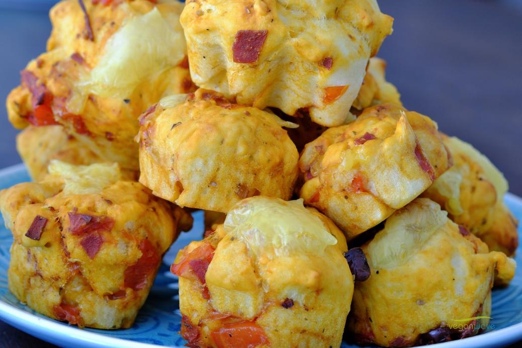 Vegane Pizzamuffins